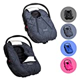 Cozy Cover Premium Infant Car Seat Cover (Charcoal) with Polar Fleece - The Industry Leading Infant Carrier Cover Trusted by Over 5.5 Million Moms for Keeping Your Baby Warm