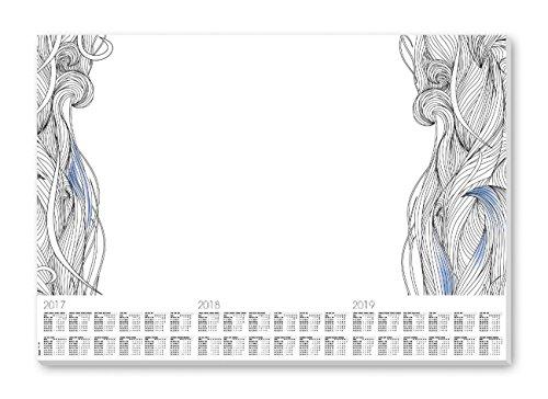 Sigel HO480 Papier-Schreibunterlage mit 3-Jahres-Kalender, 59,5 x 41 cm, 30 Blatt