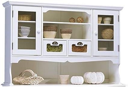 Beaux Meubles Pas Chers Haut De Vaisselier Blanc 143 Cm Amazon Fr Cuisine Maison