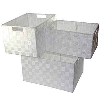 Amazon.de: XXL Aufbewahrungsbox 3er Set Badezimmer Kiste Korb ...