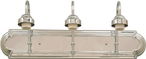 Indoor Wall Sconce Forte Lighting - Forte Lighting 52703-05 Traditional 3-Light Vanity Fixture with Chrome Finish , Chrome Finish
