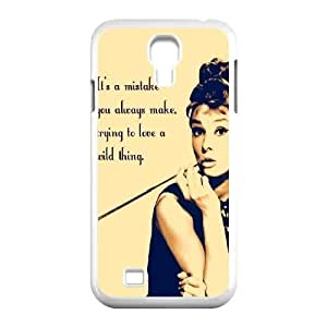 Audrey Hepburn Quotes Classic Personalized Phone Case for SamSung Galaxy S4 I9500,custom cover case ygtg-780951