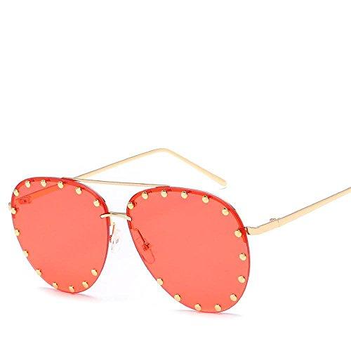 Aoligei Métal haute définition lunettes de soleil européen et américain mâle Lady général lunettes de soleil shing Fashion Rivet B