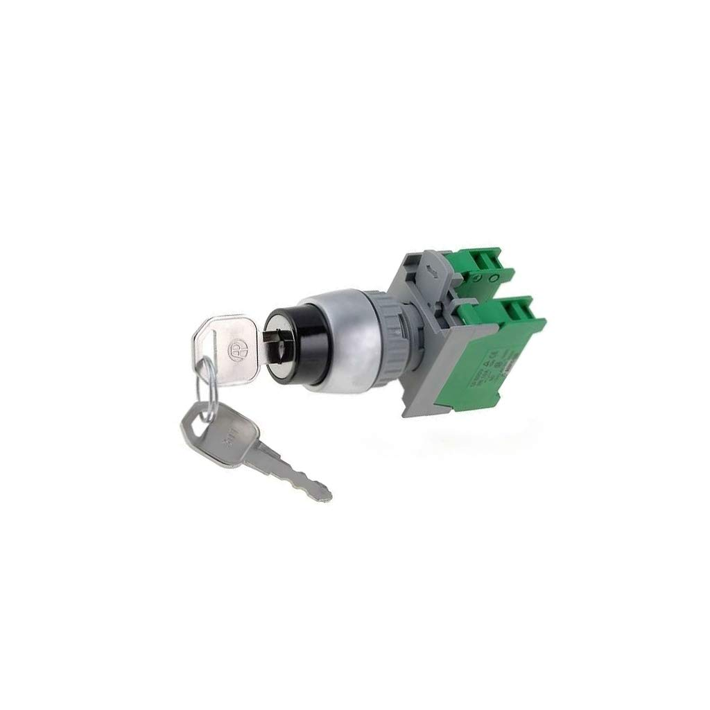 KS22-2/O, 1-0-2 3POSITION Switch: Rotary with Key Stabl.pos: 3 NO x2 3A/230VAC 2