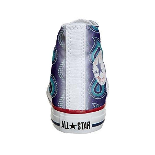 Converse All Star Hi chaussures coutume (produit artisanal) Purple Paisley