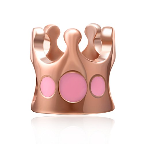 Buy rose gold crown pandora charm