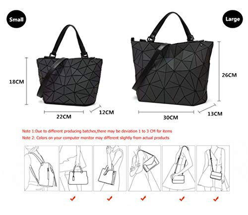 Bag Geometric Luminous Handbag Bag Luminous Large Diamond Shoulder Quilted Handbag xa5YqOwS