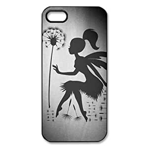iphone 5 Case/iphone 5s Covers Hard Back Protective-Unique Design Cute Blowing Dandelion Quotes Make A Wishes Case Perfect as Christmas gift(1)