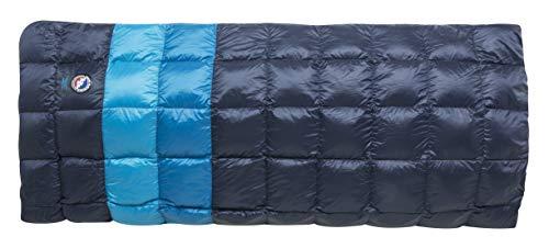 - Big Agnes Camp Robber Bedroll (650 DownTek), Wide Long, Blue Stripe