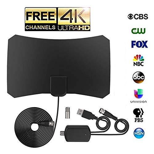 TV Antenna 2019 Newest HD Digital TV Antenna,Indoor Digital TV Antenna with 120 Miles Long Range -Support 4K 1080p /TV Antenna Amplifier