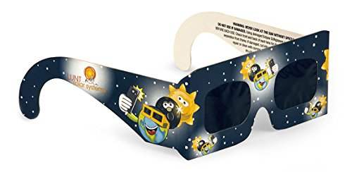 4 Pack Premium Iso And Ce Certified Lunt Solar Kid Size Eclipse Viewing Glasses