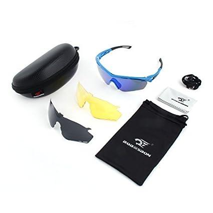 eDealMax ROBESBON autorizado Unisex aire Libre Deportes de lentes intercambiables sin Marco gafas de sol polarizadas