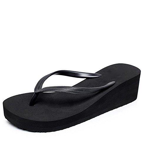 RuiSommer-Strand-Schuhe Damen-Charakter-Pantoffeln Hang Ferse dicke Sandalen 1