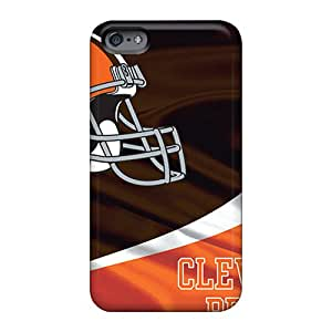 Customcases88 Apple Iphone 6s Shockproof Hard Cell-phone Cases Support Personal Customs High-definition Cleveland Browns Pattern [aIa3148rXGr]