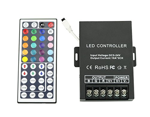 3 Channel RGB Decoder Controller 30A for LED Fiber Optic Light Strip (Decoder with 44 key remote control)