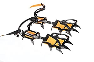 Top Quality Professional Edition 12 Teeth Ice Crampons Bandstop Snowboard Winter Snow Ice Crampons Ice Gripper for Climbing