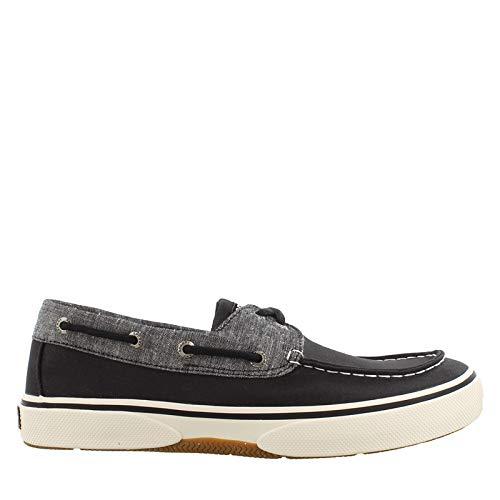 (SPERRY Men's, Halyard Boat Shoe Chambray Black 10.5 M)