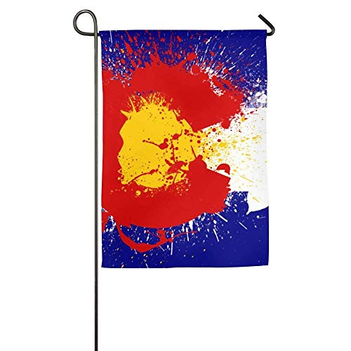 HUVATT Small Colorado Flag Fall Lawn Yard House Garden Flags 12x18 inches Semi Transparent Polyester Fiber Banners -