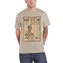Bob Dylan T Shirt Flyer Curry Hicks Cage April 1964 Official Mens New Natural