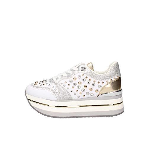 Zapatillas Color Plataforma Fl5hamelea12 Con Zapatos Mujer Guess Blanco Bianco RqwO6HW