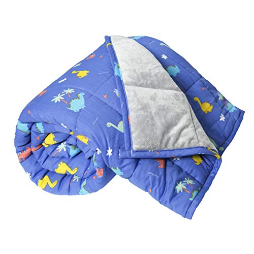 Cheap Oileus Weighted Blanket for Kids 7lbs 41 x 60 One Peice Sensory Heavy Blanket Dinosaur Blanket for Boys Girls Children Black Friday & Cyber Monday 2019