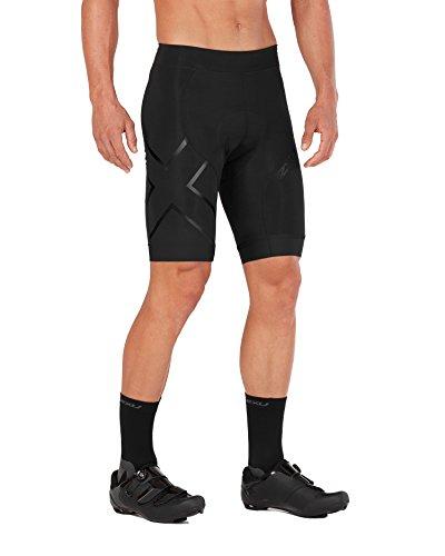 2XU Mens Compression Cycle Shorts,Black/Black, Medium (2xu Compression Cycle Short)