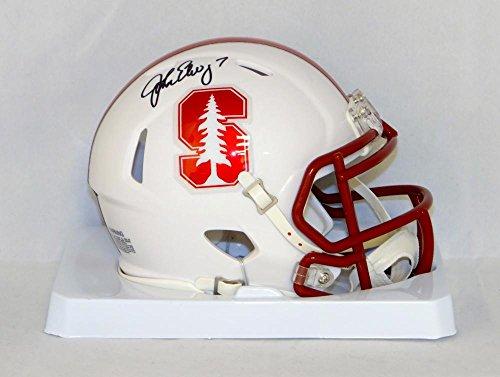 John Elway Autographed Helmet - John Elway Autographed Stanford Cardinals Speed Mini Helmet- JSA W Auth
