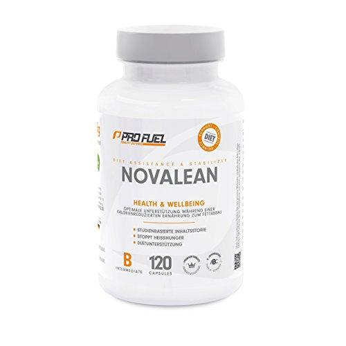 PROFUEL® Novalean - Diet Control-Stabilizer   Weidenrinden-Extrakt, Berberine HCL, Coleus Forskohlii, Panax Ginsengwurzel-Extrakt, L-Theanin, Koffein und Chrom-III-chlorid   120 Kapseln Vegan