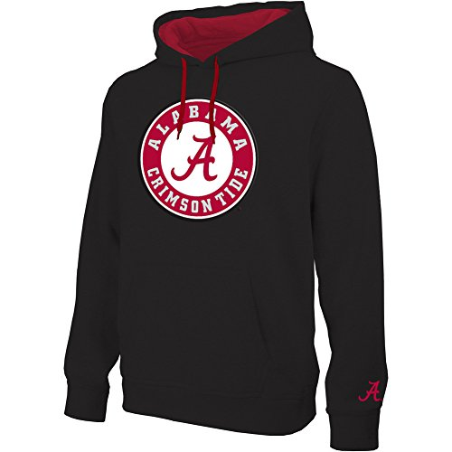 Alabama Crimson Tide Twill Hoodie Sweatshirt Icon Black - XL (Alabama Crimson Tide Applique)