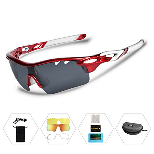 Wongkuo Polarized Sunglasses Interchangeable Lenses for Cycling Running Fishing Driving - For Golfers Sunglasses