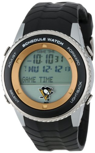 "Game Time Men's NHL-SW-PIT ""Schedule"" Watch - Pittsburgh Penguins"