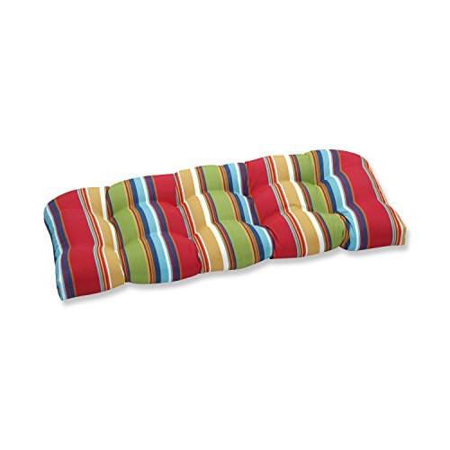 Pillow Perfect Outdoor Westport Garden Wicker Loveseat Cushion, Multicolored