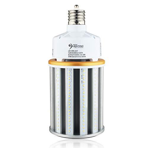(100W LED Corn Light Bulb (400W-500W MH Retrofit) Fan-Less Design - Ex39 Large Mogul Base - 100-277VAC - UL Listed & DLC Qualified - LED Street Lighting, LED High Bay Lights- 13,000lm (5700K Daylight))