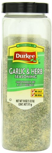 Durkee 100% Salt Free Garlic and Herb Seasoning, 18 Ounce by Durkee