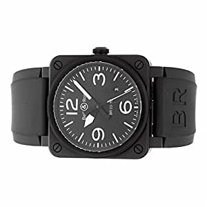 Bell & Ross Aviation automatic-self-wind mens Watch BR03-92-BL-CE (Certified Pre-owned)