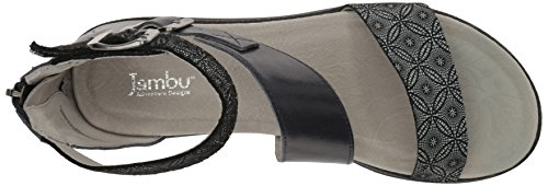 Pictures of Jambu Women's Cape May Wedge Sandal WJ17CPY91 Midnight Print 8.5 M US 2