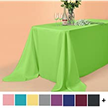Remedios 90 x 132-inch Rectangle Polyester Tablecloth Table Cover - Wedding Restaurant Party Banquet Decoration, Apple Green