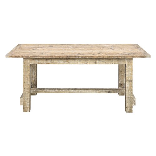 Gathering Table Base (Emerald Home Sandstone Gray Gathering Height Dining Table with Straight Timber Trestle Base)