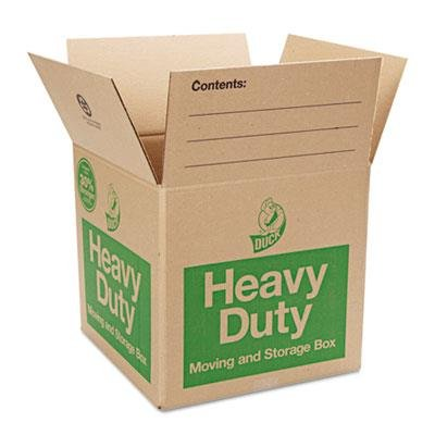 15h Storage - Duck 280728 Heavy-Duty Moving/Storage Boxes, 16l x 16w x 15h, Brown (Bundle of 6)