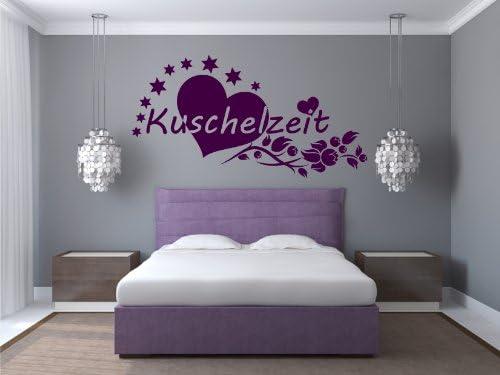 WANDTATTOO Herz Liebe Ranke Wandaufkleber Schlafzimmer Kuschelzeit