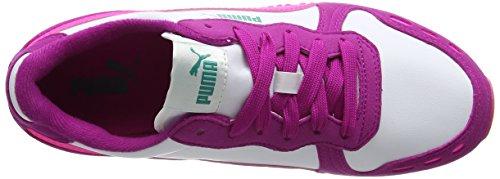 Puma Unisex-Kinder Cabana Racer SL Jr Sneaker Weiß (puma white-knockout pink 50)