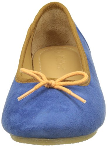 Bleu Ballerines Orange Bout Fermé Femme Bleu Baie Orange Kickers Bleu 5wgXFqw