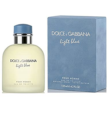 Dolce & Gabbana Eau de Toilettes Spray, Light Blue, 4.2 Fluid Ounce