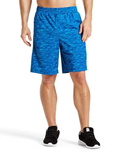 "Mission Men's VaporActive Element 9"" Basketball Shorts, Bright Blue Thunder, Large ()"