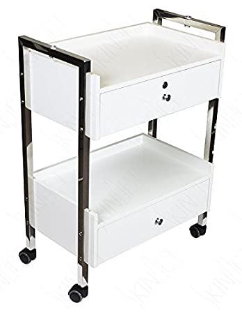 Supreme Medical Dental Mobile Utility Cabinet U0026 Cart With Steel Frame And  Two Drawer With One