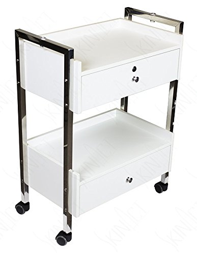 Supreme Medical Dental Mobile Utility Cabinet & Cart with Steel Frame and Two Drawer With One lockable Drawer by SkinAct