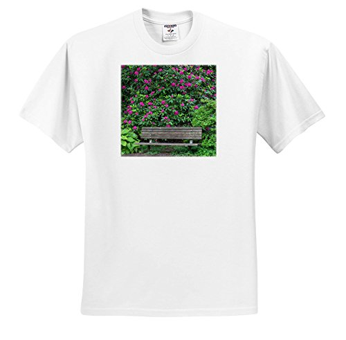 3dRose Danita Delimont - Gardens - Oregon, Portland, Purple Blossoms Of Rhododendrons In Bloom and Bench. - T-Shirts - Toddler T-Shirt (2T) (TS_279356_15) (Portland Blossom)