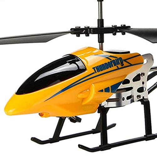 ElevenY RC Helicopter 3.5 CH Radio Control Helicopter with LED Light Rc Helicopter Children Gift Shatterproof Flying Toys Model - Rechargeable Electric Helicopter (Color : Yellow)