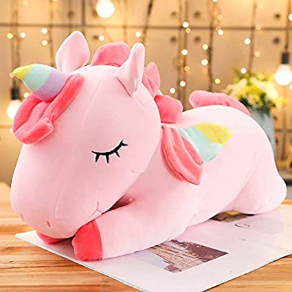 Tickles Pink Rainbow Angel Unicorn Plush Soft Toy for Kids Diwali Christmas Gift 30 cm