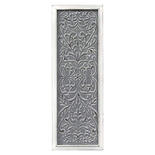 Stratton Home Decor -- Dropship, us home, SUHQX Stratton Home Decor Metal Embossed Panel Wall Décor, Distressed White, -